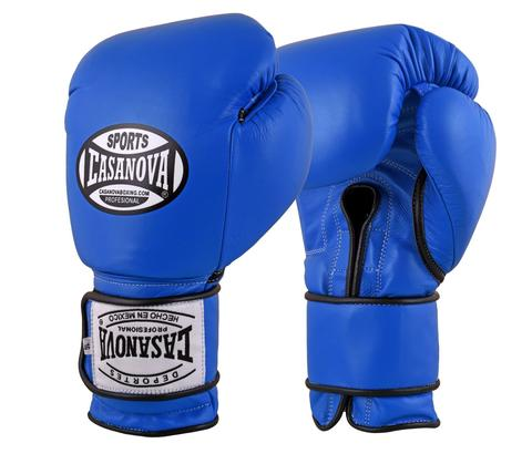 Casanova Boxing® Hook and Loop Training Gloves - BLUE