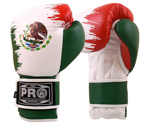 Pro Boxing® Classic Leather Gloves Mexican Flag