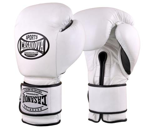 Casanova Boxing® Hook and Loop Training Gloves - WHITE