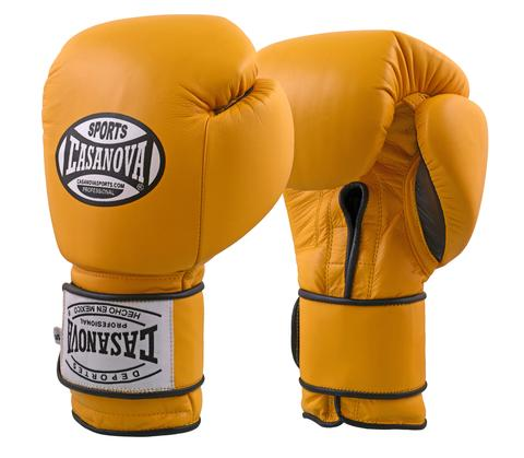 CASANOVA BOXING® VELCRO TRAINING GLOVES - YELLOW