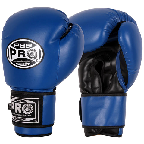 Pro Boxing Youth Gloves - 14 OZ Blue/Black