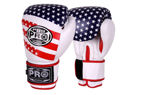 PRO BOXING® CLASSIC LEATHER TRAINING GLOVES - USA