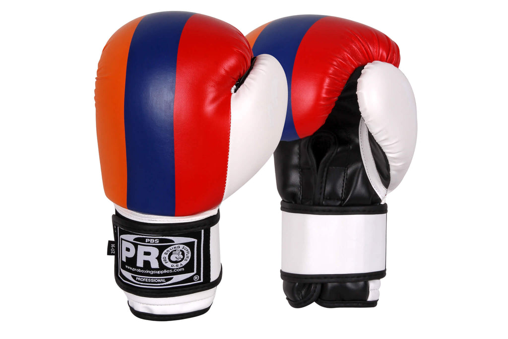 16 OZ BOXING PRACTICE TRAINING GLOVES USA MMA Sparring Punching American Flag
