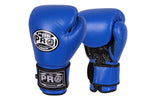 Pro Boxing® Leather Thai Gloves -  Blue