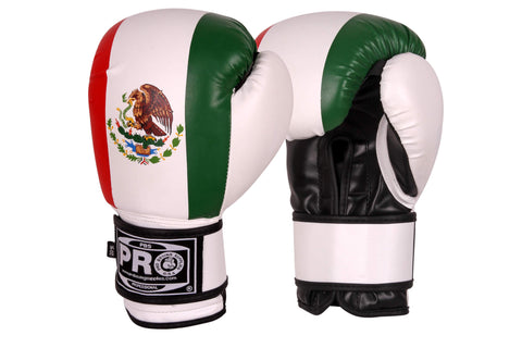 Pro Boxing® Series Deluxe Starter Boxing Gloves - Mexican Flag