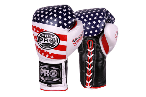 Pro Boxing® Series Gel Lace Gloves - USA