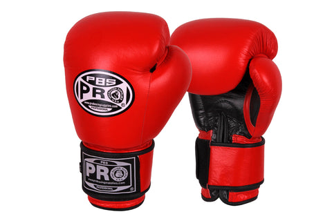 Pro Boxing® Leather Thai Gloves -  Red