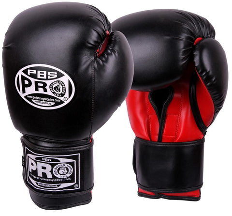 Pro Boxing® Series Deluxe Starter Boxing Gloves - Black/Red Palm