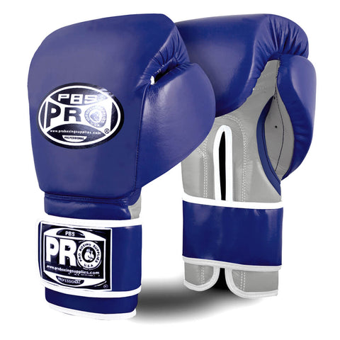 Pro Boxing® Ultimate Velcro Boxing Gloves – Blue