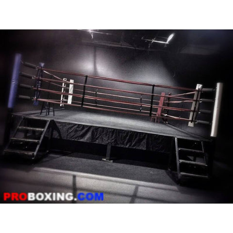 Daily Rental - Pro Boxing Classic Black Elevated Ring