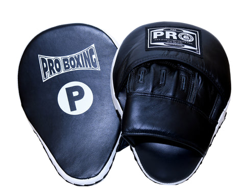 Pro Boxing® Professional Focus Curve Mitt - Black/White Trim