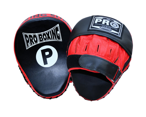 Pro Boxing® Professional Focus Curve Mitt - Black/Red Trim
