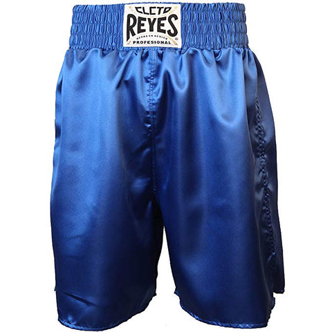Cleto Reyes Satin Classic Boxing Trunks - All Blue