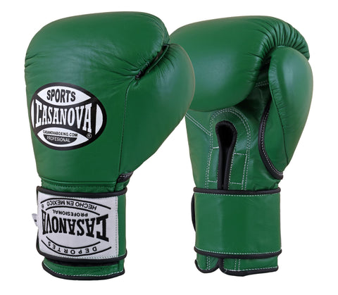 Casanova Boxing® Hook and Loop Fight Gloves - Green