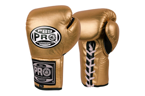Pro Boxing® Official Pro Fight Gloves - Metallic Gold