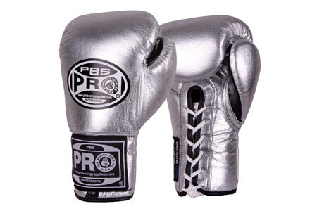 Pro Boxing® Official Pro Fight Gloves - Silver