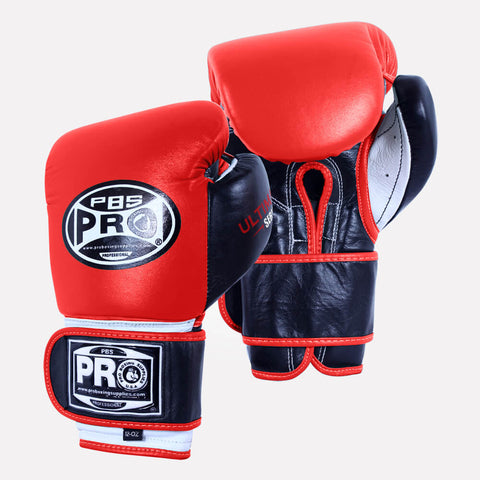Pro Boxing® Ultimate Velcro Boxing Gloves – Red/Black