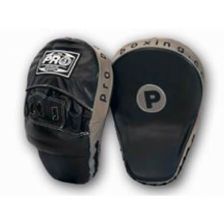 Pro Boxing® Deluxe Focus Mitts - Black/Grey Trim