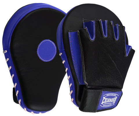 Casanova Boxing® Professional Fingerless Focus Mitt - Black/Blue