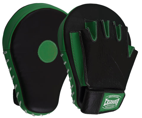 Casanova Boxing® Professional Fingerless Focus Mitt - Black/Green