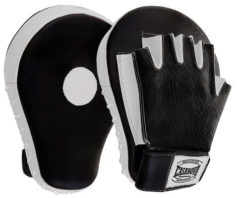 Casanova Boxing® Professional Fingerless Focus Mitt - Black/White