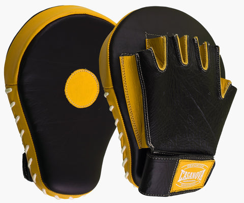 Casanova Boxing® Professional Fingerless Focus Mitt - Black/Yellow