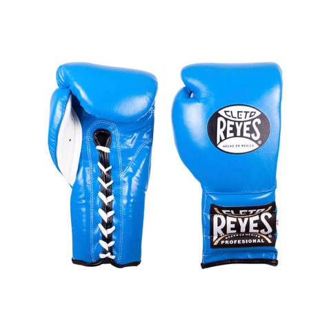 Cleto Reyes Traditional Lace Gloves - Blue