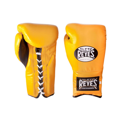 Cleto Reyes Traditional Lace Gloves - Yellow