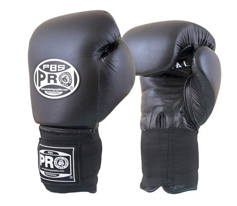 Pro Boxing® Amateur Competition Elastic Gloves - Black