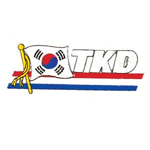 "Patriotic Korean ""TKD"" Patch"