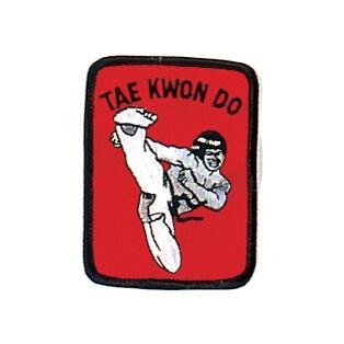 Red Tae Kwon Do Kick Patch