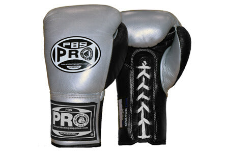 Pro Boxing® Official Pro Fight Gloves - Silver/Black