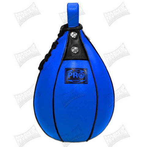 Pro Boxing® Leather Speed Bag - Blue