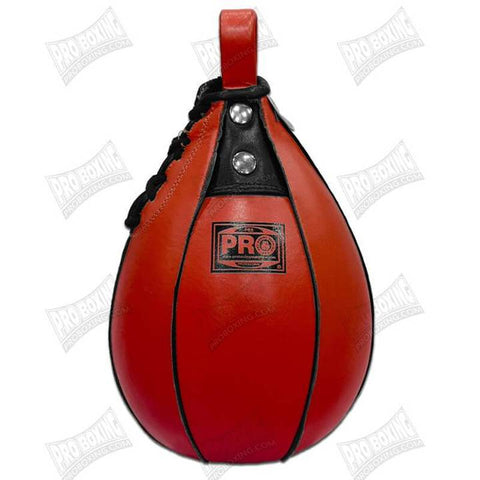 Pro Boxing® Leather Speed Bag - Red