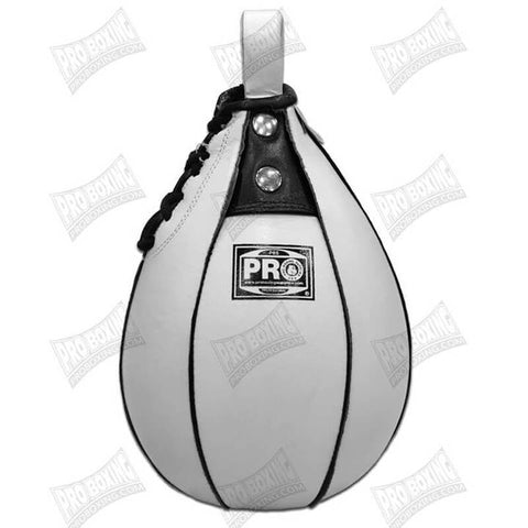 Pro Boxing® Leather Speed Bag - White