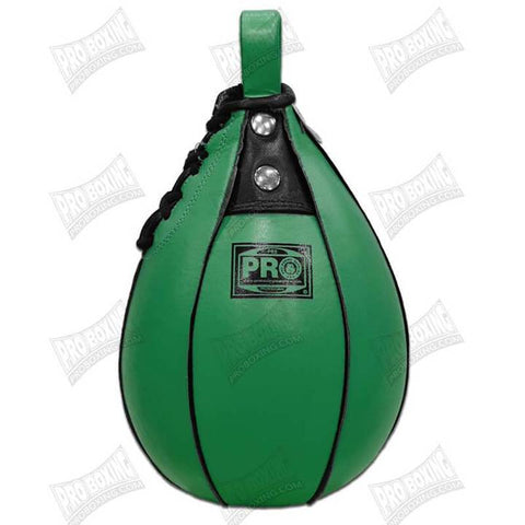 Pro Boxing® Leather Speed Bag - Green