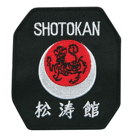 Black, White & Red Shotokan Karate Patch