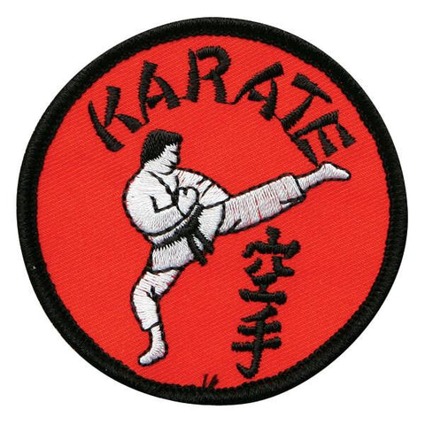 Black & Red Karate Circle Patch