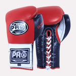 Pro Boxing® Ultimate Lace-Up Boxing Gloves – Red/Black