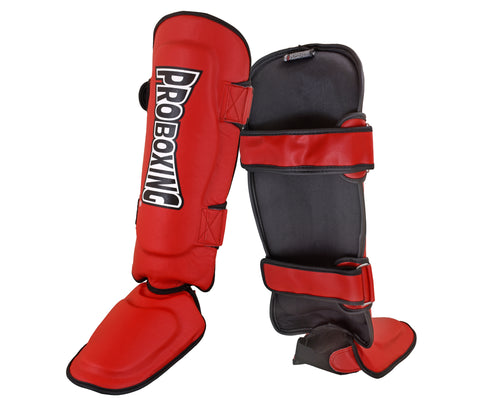 Pro Boxing® Shin Instep Guards - Red