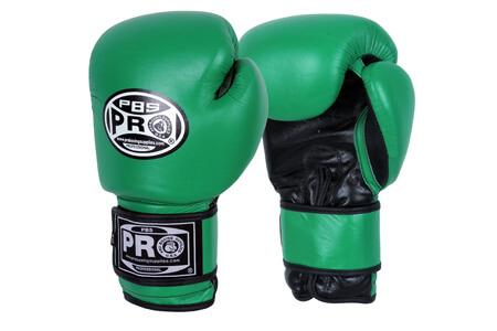 PRO BOXING® CLASSIC LEATHER TRAINING GLOVES - GREEN