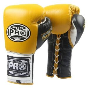 Pro Boxing® Series Gel Lace Gloves - Yellow