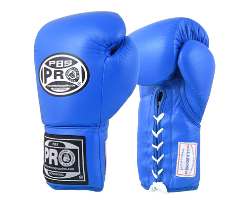 Pro Boxing® Amateur Competition Lace Up Gloves - Blue