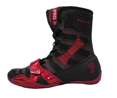 Pro Boxing® Hyper Flex Boxing Shoes - Black/Red