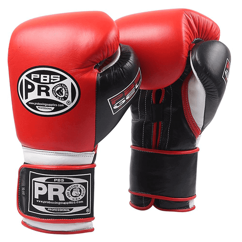 Pro Boxing® Series Gel Velcro Gloves - Red