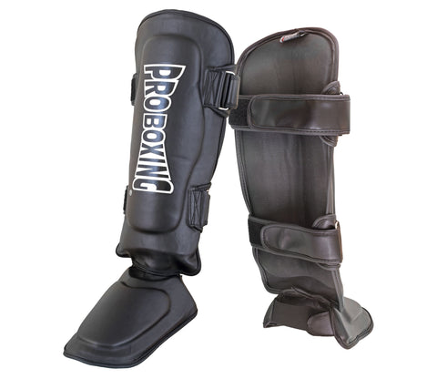 Pro Boxing® Shin Instep Guards - Black