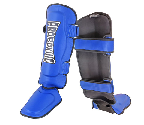 Pro Boxing® Shin Instep Guards - Blue
