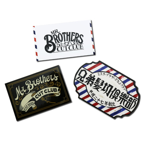MR.BROTHERS STICKER SET/MR.BROTHERS CUT CLUB(STICKER)