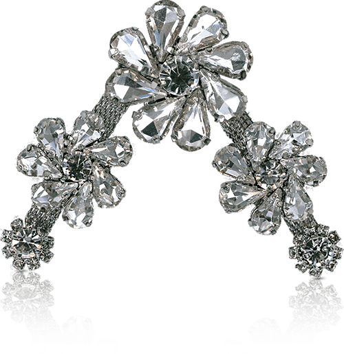 CRYSTAL MULTI SIZE FLOWER silver 2
