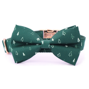 Christmas Trees Bow Tie Collar
